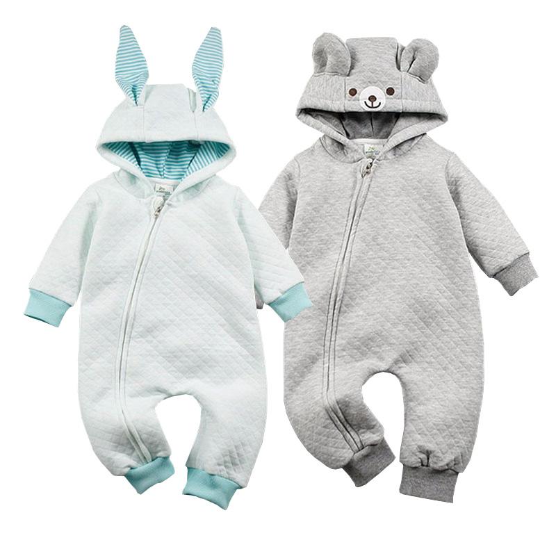 diseador de otoo primavera recin nacido mamelucos del beb animal lindo oso conejo mono de la