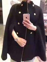 2016ルネッサンススチームパンクヴィンテージ貴族フード付きケープファッション歴史マントカシミヤ服ゴールドフレームコート用メンズレディー