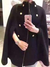 2016 renaissance steampunk vintage nobleman hooded cape Fashion history cloak cashmere clothing gold frames coat for mens womens