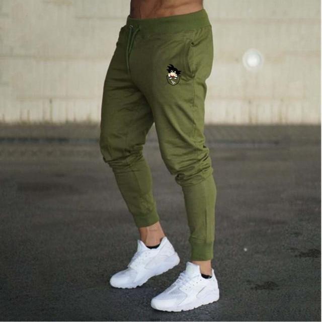 2018 Men Joggers Sweatpants Black Trouser Fitness Sweatpants Casual Funny  Print Dragon Ball Goku Mens Pants Cotton Casual 2e5a174b09c