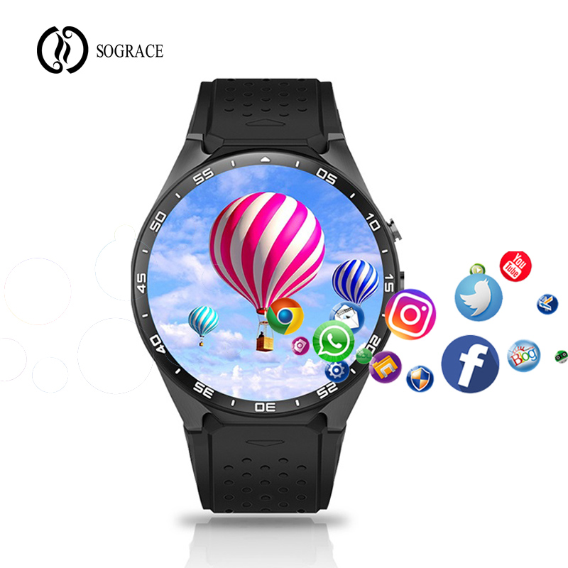 3G Net KW88 Smart Watch 1.39 Inch MTK6580 Quad Core 1.3GHZ Android 5.1 3G Smart Watch Camera Smartwatch For Iphone Huawei Phone видеорегистратор qstar le5