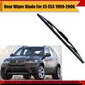 Ventana trasera del coche escobilla de goma suave bracketless parabrisas para bmw x5 e53 1999-2006