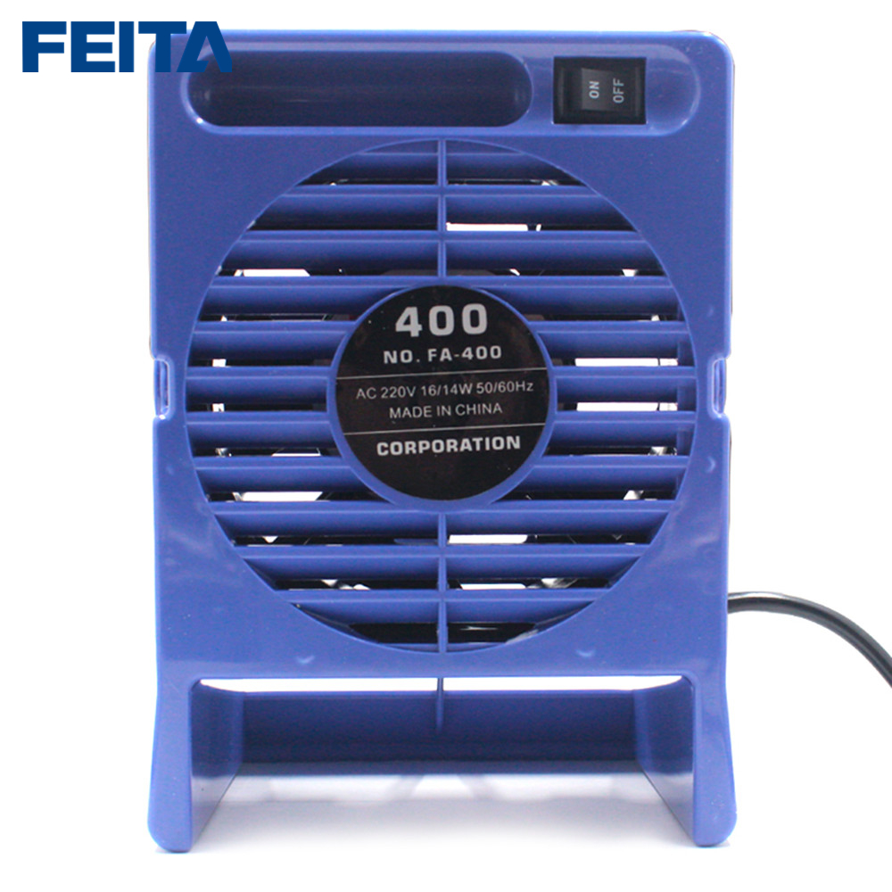 Tools : FEITA FA-400 Solder Smoke Absorber ESD Fume Extractor Smoking Instrument With 6pcs free Activated Carbon Filter Sponge Ac 220v