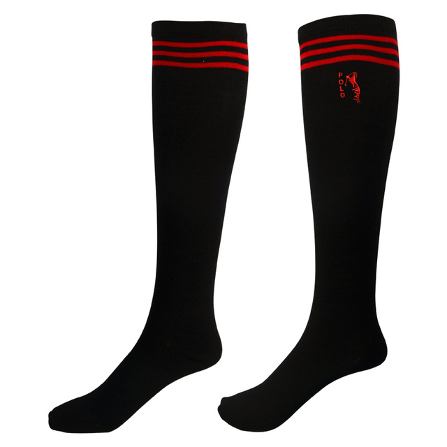 POLO Golf Women Socks 2016 New Patchwork Sexy Ladies Black High Stockings  Cotton Sport Running Girl Natural Color 2f2cde33b