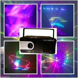 1.5 W światło laserowe pokaż projektor 3D W pełnym kolorze lasery ILDA DIsco DJ koncert Pro dźwięk oświetlenie