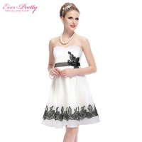 Homecoming Dress Ever Pretty HE03962 Strapless White Short Cocktail Homecoming Dress 2016