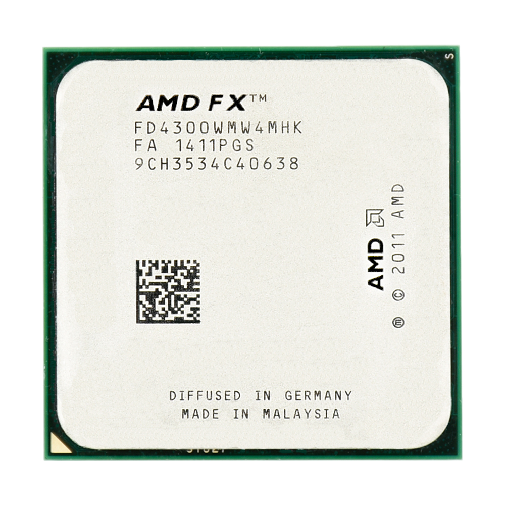 AMD FX serial FX 4300 3 8GHz 95W 4MB Cache FX 4300 Socket AM3 Quad Core