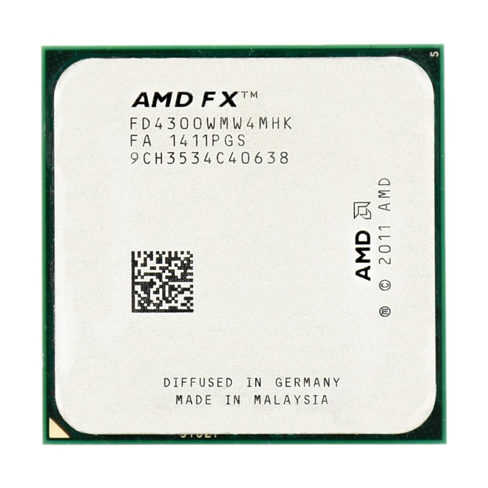 Amd fx serial fx 4300 3.8 ghz 95 w 4 mb cache FX-4300 soquete am3 + quad core processador cpu peças frete grátis