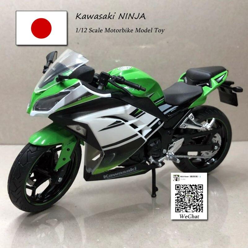 6pcs/lot Wholesale JOYCITY 1/12 Scale Motorbike Model Toys KAWASAKI NINJA/H2 Diecast Metal Motorcycle Toy