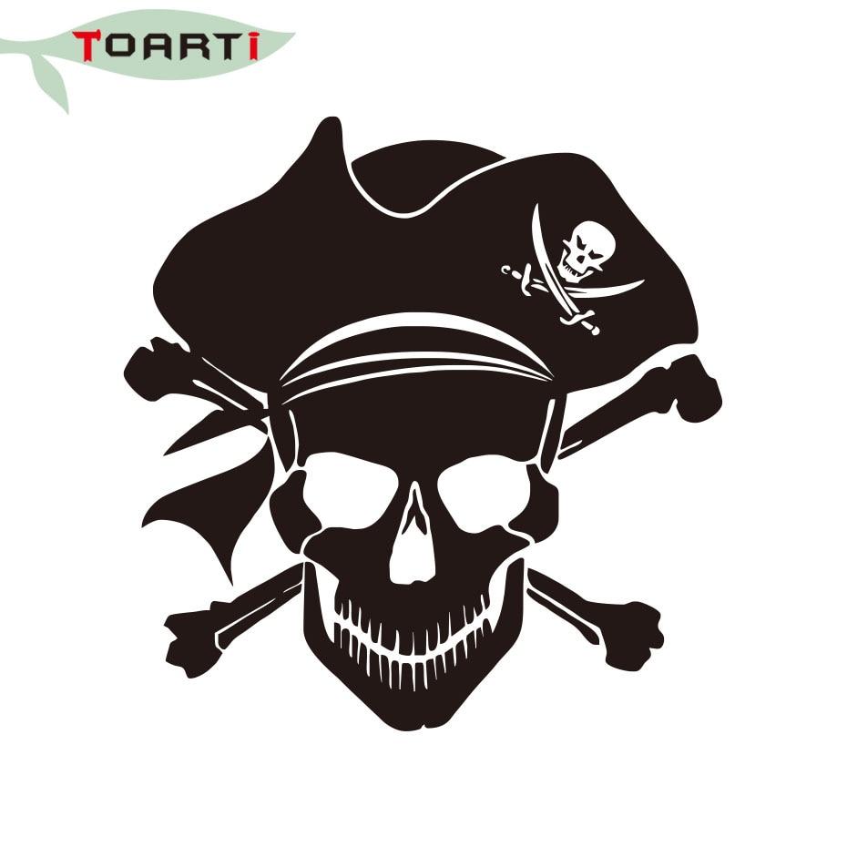 La piraterie os croisés crâne vinyle decal nouveau design autocollant de voiture pirate jolly ordinateur portable stickers amovible fenêtre de la voiture