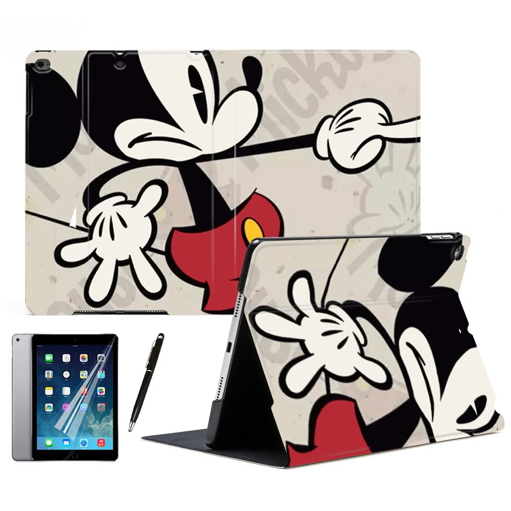 Cartoon Cute Mickey Mouse Surprise Sleep Wake Up Full Stand Tablet Smart Case Cover For Apple iPad Air 1 2 9.7