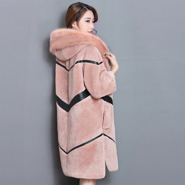2018 Hiver Nouvelle Mode Femme Imitation Mouton Fourrure Atmosphere