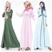 Women muslim abaya dress islamic clothing for women modest contract color turkish women clothing dubai kaftan