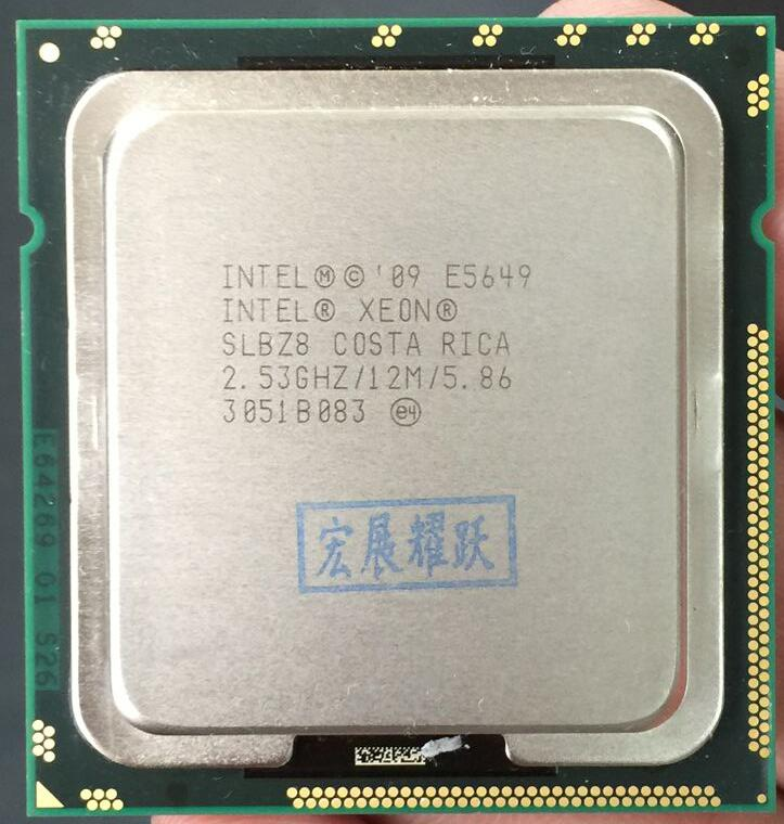 PC computer Intel Xeon Processor E5649 (12M Cache, 2.53 GHz, 5.86 GT/s Intel QPI) LGA 1366 Desktop CPU