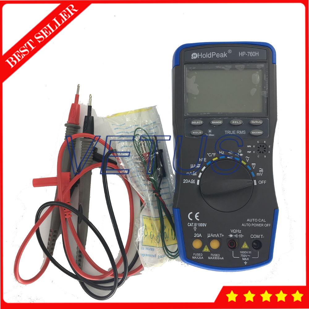 HP-760H Digital avometer with -20~1000C Automatic range DMM digital multimeter