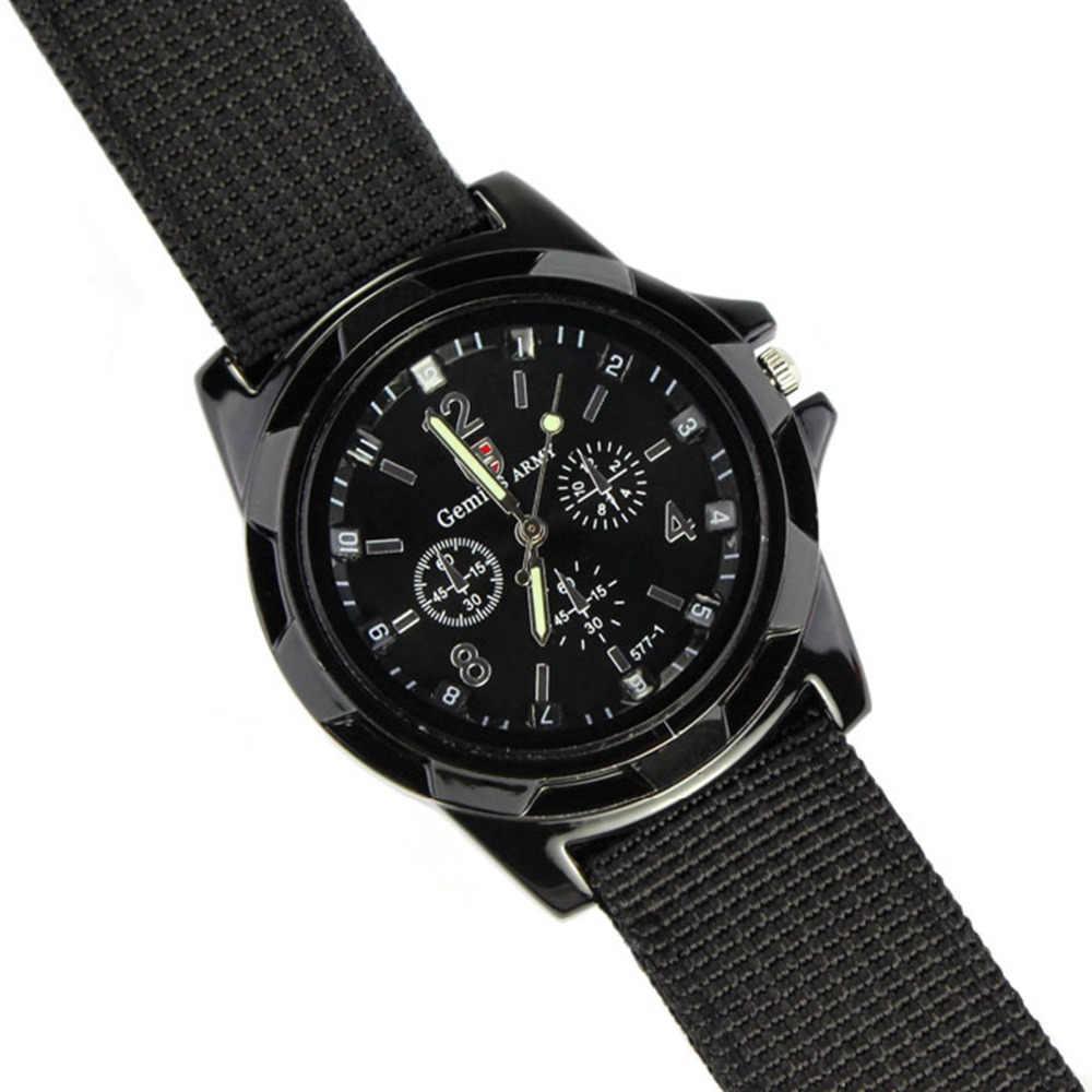 XINIU super qualidade relogio masculino relógio de quartzo relógio de homens Do Exército Força Corrida Militar Esporte Mens Relógio Banda Tecido Preto # a8