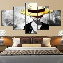 New Style 5 Pieces Combined Cartoon Canavs Painting Pictures Children Birthday Gift Home Living Room Decoration