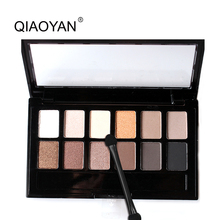 New Top Quality 1PC 12 Colors Set Women Waterproof Makeup Eyeshadow Palette Eyebrow Eye Shadow Powder Cosmetic With Brush