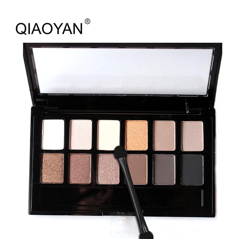 New Top Quality 1 PC 12 Cores Mulheres Conjunto de Maquiagem À Prova D' Água Sobrancelha Sombra de Olho Em Pó Eyeshadow Palette Cosméticos Com Escova