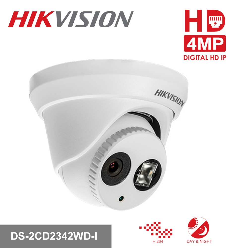 Hikvision CCTV Camera DS-2CD2342WD-I 4MP WDR EXIR Turret Network Dome IP Camera PoE Support Upgrade IR 30m dhl free shipping in stock new arrival english version ds 2cd2142fwd iws 4mp wdr fixed dome with wifi network camera