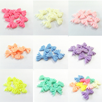 Wholesale Small Size 30mm 23mm 240pcs Bag Pastel Color Spring Color Acrylic Bow Beads