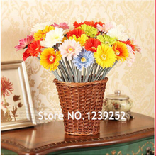 New 10pcs/lot Big Gerbera Artificial Flower Silk artificial bouquet Real touch flowers for Home Wedding Decoration fake