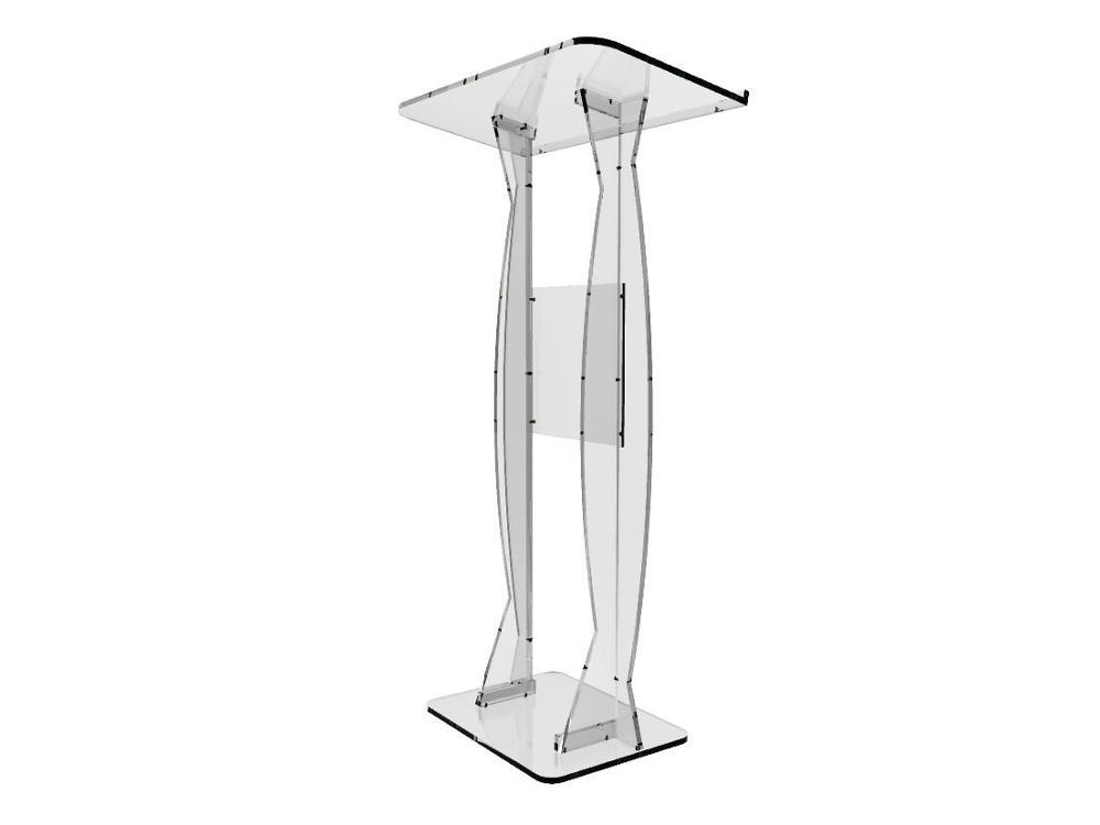 Furniture ... Commercial Furniture ... 32682576270 ... 3 ... Fixture Displays Fixture Displays Podium Clear Ghost Acrylic Lectern or Pulpit  Easy Assembly Required ...