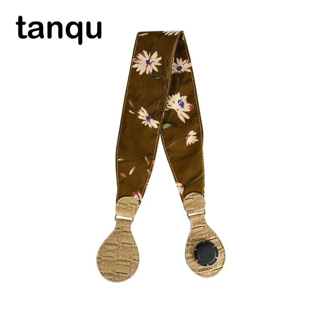 Tanqu Soft Floral 1 Piece Fabric Handle With Patchwork Drop End For Bag O Bag Handles For EVA Obag Handbag Women's Bags
