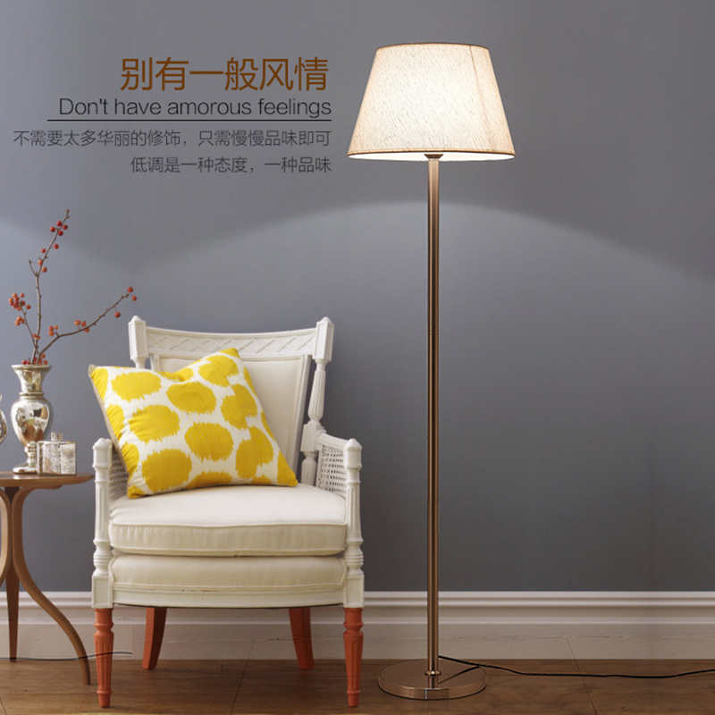 Moderne lamp woonkamer staande lamp Creatieve doek cover slaapkamer ...