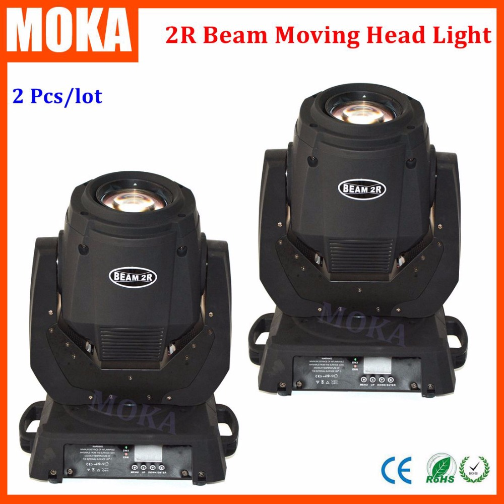 2 Pcs/lot 132W Sharpy Beam 2r Moving Head Light DMX 14CH 2R Lamp 2R 132W Beam Zoom Light Moving Head Spot Light