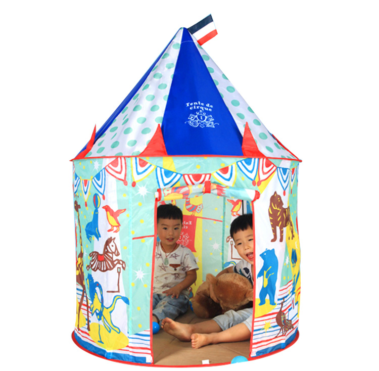 YARD Castle Zoo Playhouse Kids Tent Toys Portable Foldable Tipi Kids Play Tents Outdoor House for Children Kids Indoor Room