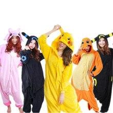 SpringAutumn Pyjamas NORIVIIQ Pokemon Snorlax Charmander Umbreon pikachu Halloween Pajamas Animal Cosplay Unisex anime Sleepwear
