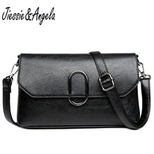 Jiessie & Angela Woman Famous Brand Luxury Handbags Women Bags Designer Totes Genuine Leather Shoulder Bag Cross body Purse