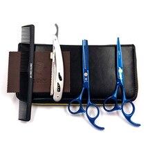 chu Smith 5.5インチプロフェッショナル理髪はさみ理髪はさみ、ヘア切削工具の組み合わせパッケージhm87