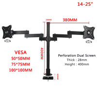 360 Degree Monitor Desktop Stand 17 25 Monitor Holder Monitor Arm Full Motion Monitor Mount Bracket 100x100 Vesa Mount