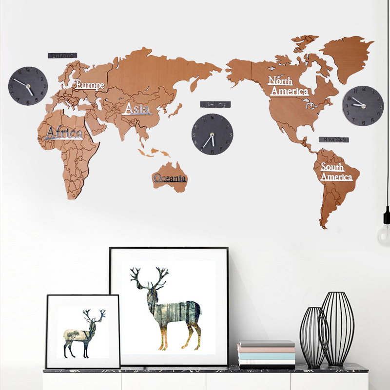 Online get cheap unique wall calendar aliexpress alibaba group wooden the world map clocks home hotel wall decoration diy living room office wall sticker map watches unique wall clock gifts gumiabroncs Choice Image