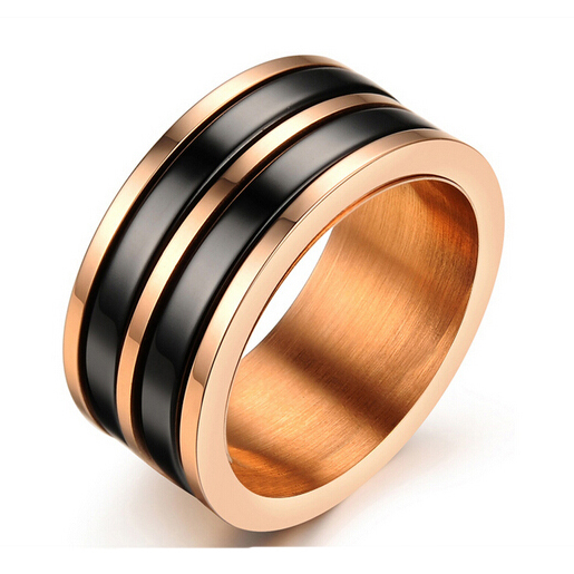 Wholesale fashion Stainless Steel Jewelry Exquisite ceramic ring for women men