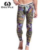 2015 New 95 Cotton 3D Print Men Long Johns Underwear Autumn Winter Men S Trousers Warm