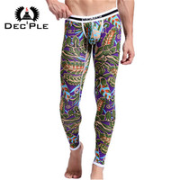 2015 New 95 Cotton 3D Print Men Long Johns Underwear Autumn Winter Men S Trousers Warm