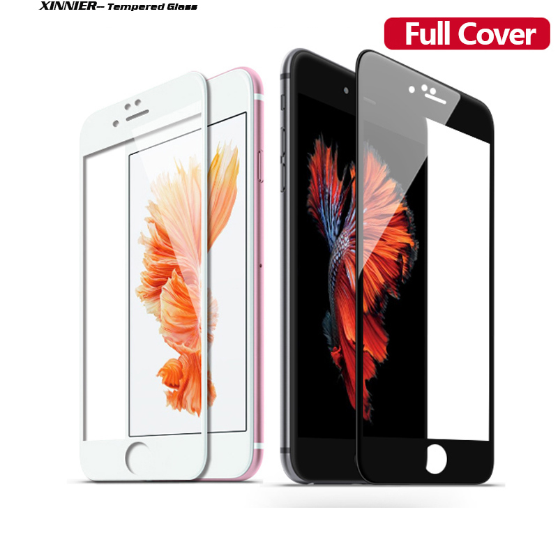 Full Cover Tempered Glass for iPhone6S 6plus case High Transparent Screen Protector Explosion Proof Anti Scratch Protective Film