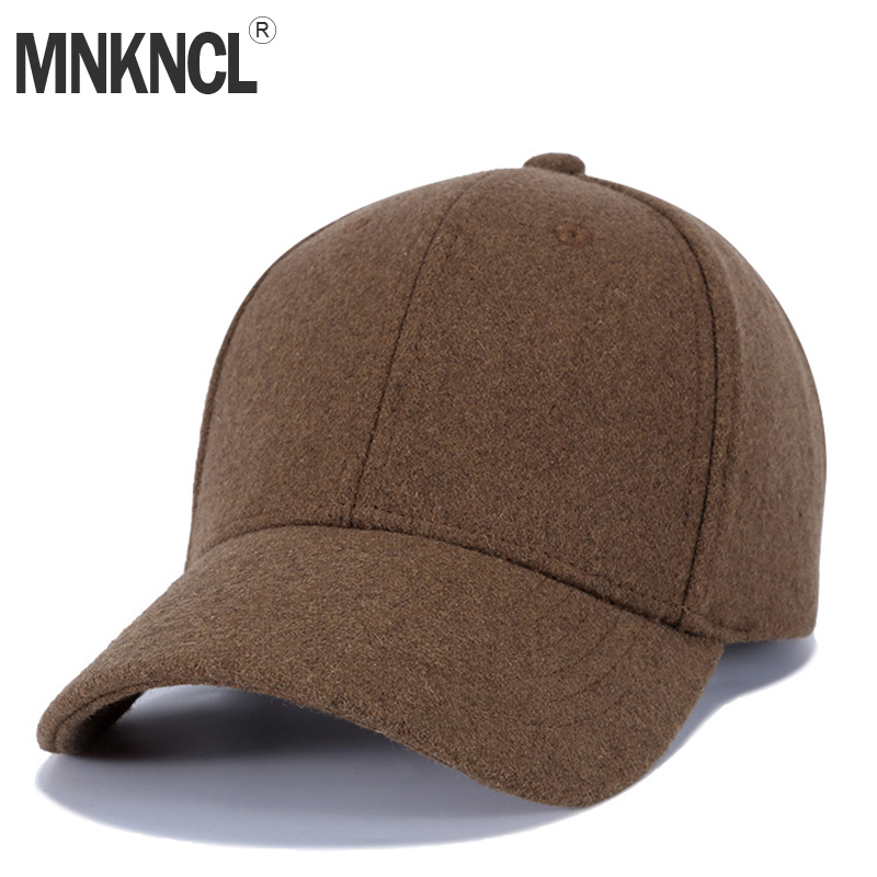 4172853bccb Detail Feedback Questions about MNKNCL High Quality Wool Baseball Cap  Autumn Winter Keep Warm Snapback Fashion Sports Hats For Men   Women Caps  on ...