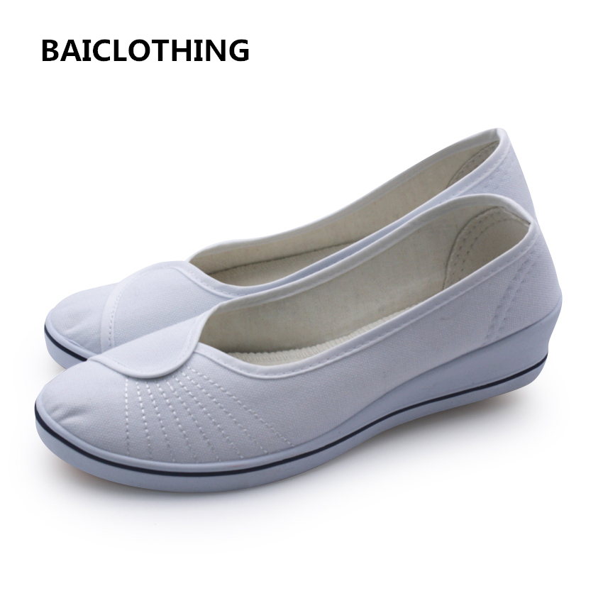BAICLOTHING women white slip on shoes zapatos planos lady casual spring & summer cloth shoes female cool soft comfortable flats women loafers casual shoes female round toe slip on wide shallow flats lady shoes oxford spring summer shoes for women or910314