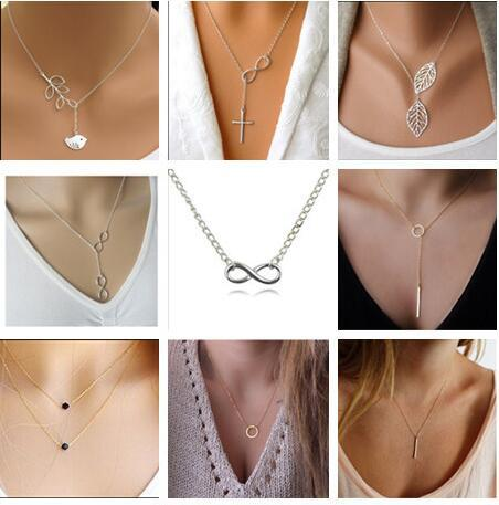 N381+ 2017 Sell well Silver Infinity fish necklaces pendants for women jewelry Aliexpress