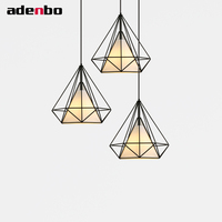 Ceiling Hanging LED Lamp Birdcage Pendant Lights White And Black Suspension Luminaire Iron Loft Light For
