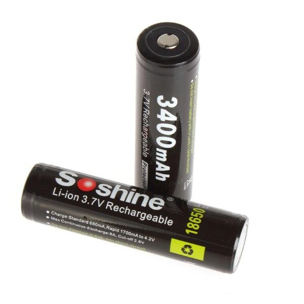 Baterias Recarregáveis de descarga de alta Marca : Soshine