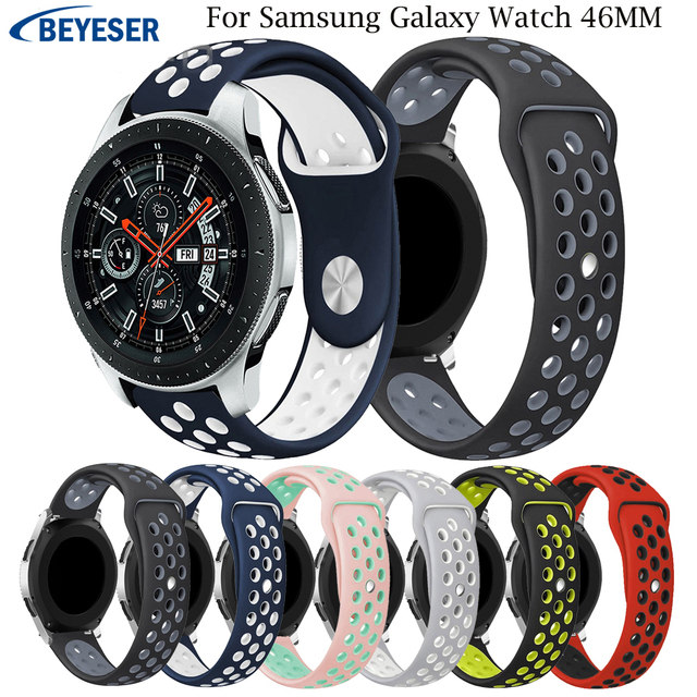 For Samsung Galaxy Watch 46mm Sport Silicone Strap Replacement Band for Samsung