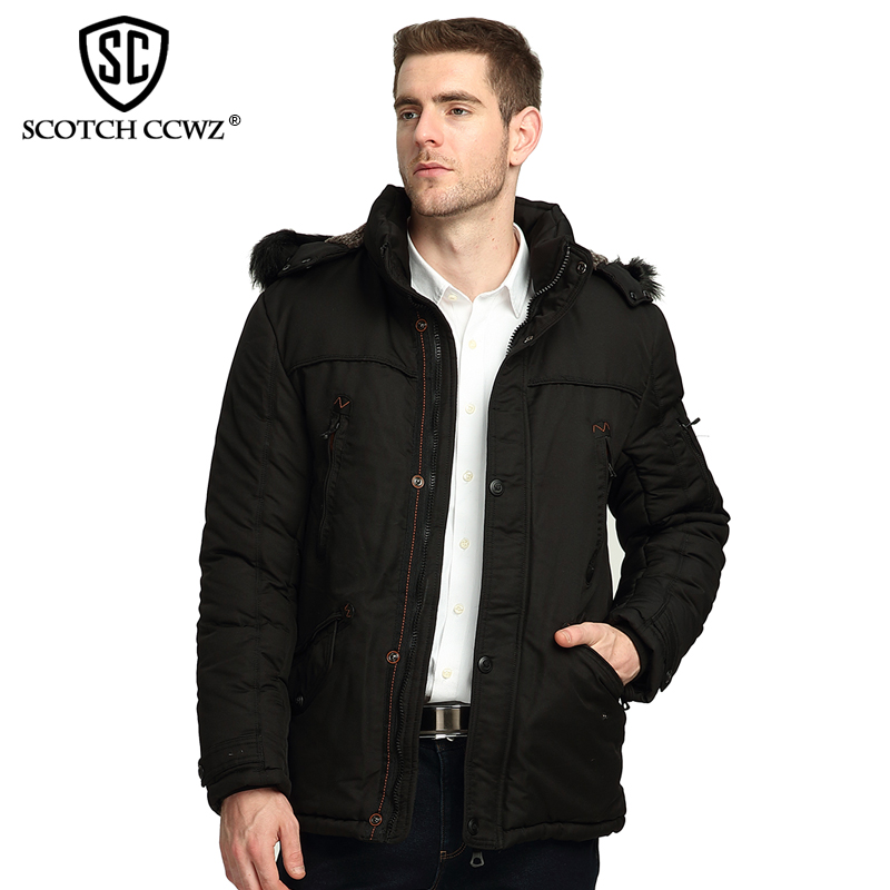 SCOTCH CCWZ Brand Business Winter Jacket Men Parkas Casual Warm Thick Jackets And Coats For Men Clothing 2017 New Arrival 9920 casual 2016 winter jacket for boys warm jackets coats outerwears thick hooded down cotton jackets for children boy winter parkas