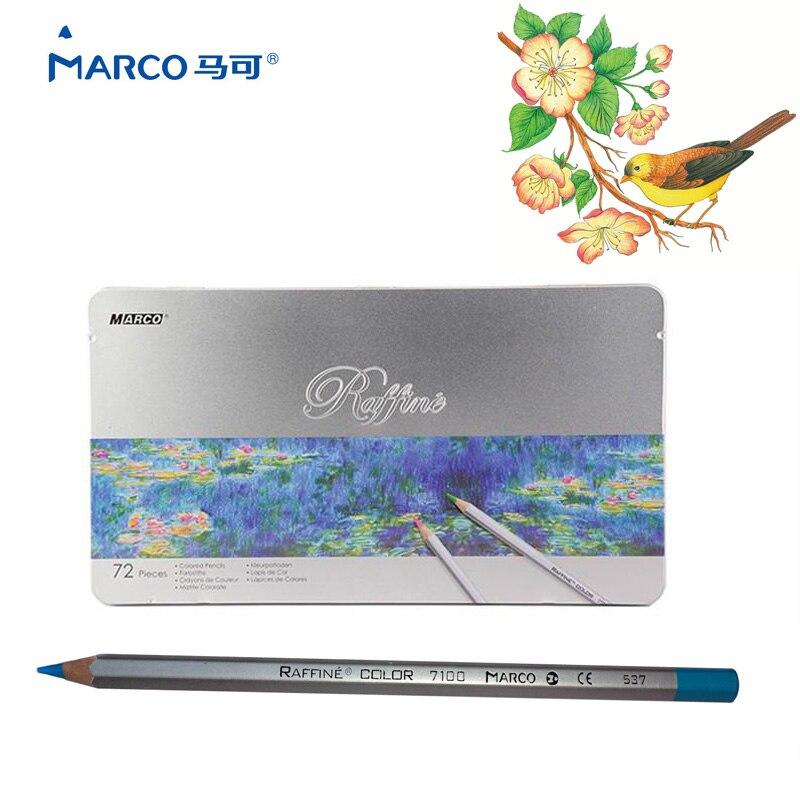 ⓪Marco raffine 72 colores Lapis de cor profesional color de aceite ...