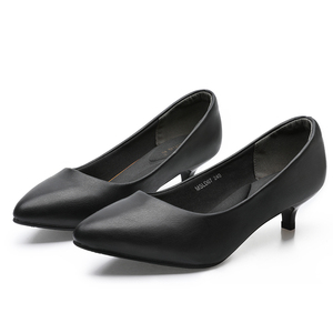 Image 4 - YALNN Fashion Spring big size New 3/5/7 cm Retro Classic Woman Wedding Girls Shoes Pumps Party Lady Pointed Toe High Heels