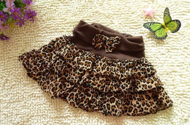 Pettiskirts tutuspring and autumn fashion leopard print 100% cotton bust skirt miniskirt FREE SHIPPING